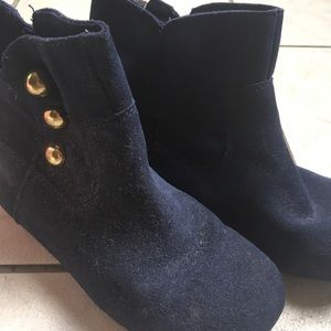 Navy blue kids boots